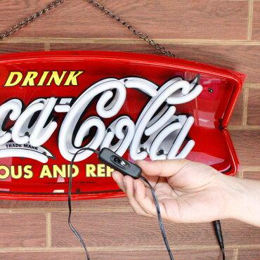 コカコーラネオンLEDサインFISHPJ-NEO01H22×W55cmLEDネオンインテリア照明ディスプレー店舗装飾アメリカ雑貨アメリカン雑貨