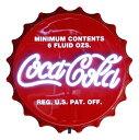 コカコーラ ネオン LED サイン BOTTLE CAP PJ-NEO02 H50×W50cm LEDネオン インテリア 照明 ディスプレー 店舗装飾 アメリカ雑貨 アメ…