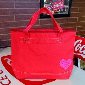 COCA-COLA BRAND コカコーラブランド rPET キャンバストートバッグ (Heart Red ) アメリカ雑貨 アメリカン雑貨