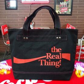 COCA-COLA BRAND コカコーラブランド rPET キャンバストートバッグ (Real Black ) かばん コーラ雑貨 アメリカ雑貨 アメリカン雑貨