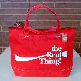 COCA-COLA BRAND コカコーラブランド rPET キャンバストートバッグ (Real Red ) かばん コーラ雑貨 アメリカ雑貨 アメリカン雑貨