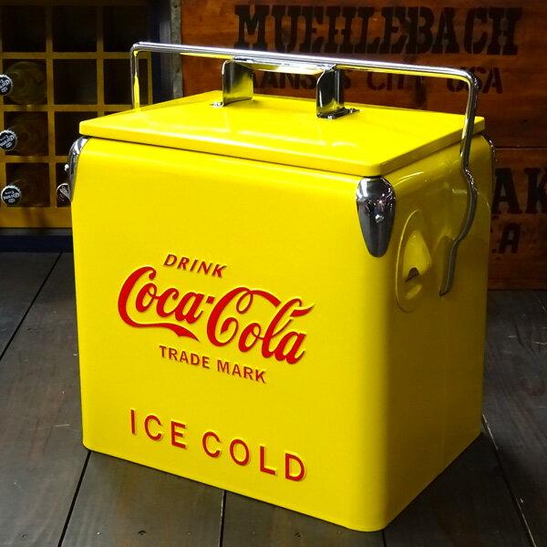 COCA-COLA BRAND コカコーラブランド レトロピクニックストレージボックス (イエロー ) クーラーボックス アウトドア コーク アメリカ雑貨 アメリカン雑貨