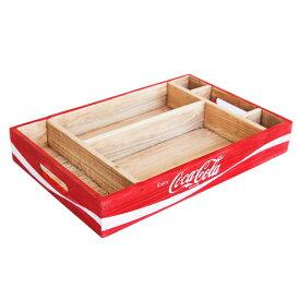 コカコーラ ウッドクレート デスクオーガナイザートレイ COCA-COLA BRAND 木箱 収納 インテリア アメリカ雑貨 アメリカン雑貨