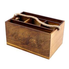 カトラリーキャディ コカコーラブランド ウッドキャディ 木箱 COCA-COLA ヴィンテージ雑貨 オーガナイザー アメリカ雑貨 アメリカン雑貨