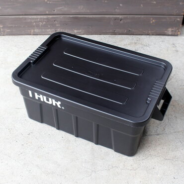 収納ボックスコンテナTHORソーラージトートコンテナーフタ付き53LブラックスクエアTRUSTアメリカ雑貨アメリカン雑貨