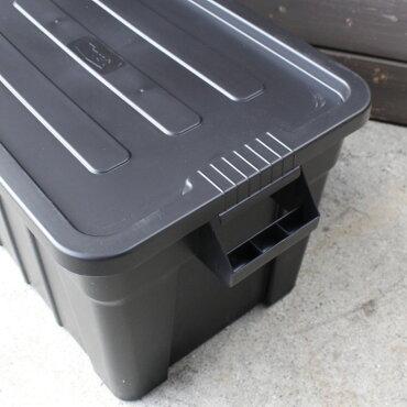 収納ボックスコンテナTHORソーラージトートコンテナーフタ付き75LブラックスクエアTRUSTアメリカ雑貨アメリカン雑貨