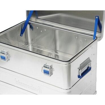 収納用コンテナボックスアルミニウムプロフィーボックス73Lヒューナースドルフ社ブルーアウトドアインテリアおしゃれドイツ製