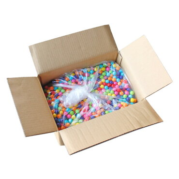 CROWNクラウンガムボール詰替え大18mm玉7色アソート10kg箱(約2500個)バルク販売ガムボールマシーン用大容量アメリカン雑貨