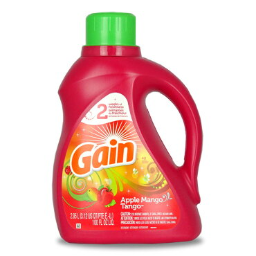 GAINゲイン洗濯洗剤液体アップルマンゴタンゴ48回分(100oz2.95L)【輸入洗剤、アメリカ製、P&G】