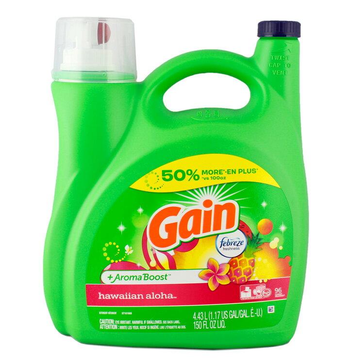 GAIN ゲイン洗濯洗剤 液体 ウィズファブリーズ (ハワイアンアロハ )96回分 (4430ml 150oz ) アメリカ雑貨 アメリカン雑貨