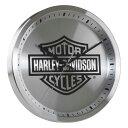 掛け時計 ハーレーダビッドソン コアメタル B&Sロゴクロック 直径30.5×厚さ4.2cm Harley-Davidson HDX-99106 アメリ…