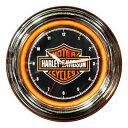 Harley-Davidson ハーレーダビッドソン B&S LEDクロック HDL-16633 ネオンクロック 壁掛け時計 ネオン管 インテリア ヴィンテージ アメ…