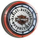 HARLEY-DAVIDSON ハーレーダビッドソン ダイアモンドプレート ネオンクロック HDL-16611 壁掛け時計 ネオン管 インテリア ヴィンテージ…