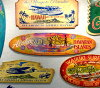 Steven Neal works vintagehavaiansign Aloha Hawaiian Island Surf Board wooden sign / / fine art / Hawaiian decor / antique signs