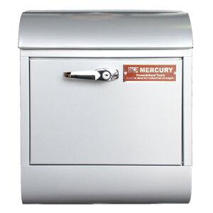 壁面用ポスト Mercury マーキュリー メールボックス ハンドルロック シルバー 鍵付き おしゃれ アメリカンデザイン 郵便受け