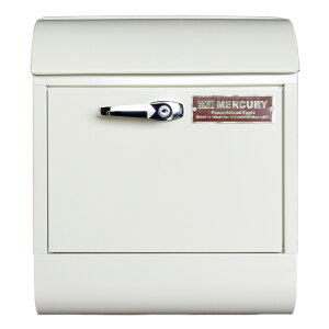 壁面用ポスト Mercury マーキュリー メールボックス ハンドルロック アイボリー 鍵付き おしゃれ アメリカンデザイン 郵便受け