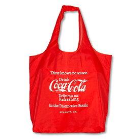 Coca-Cola コカ・コーラ エコバッグ Mサイズ Drink/レッド PJ-ECO03 おしゃれ 買い物バッグ トートバッグ 収納ポケット アメリカン雑貨 rPET ECO BAG