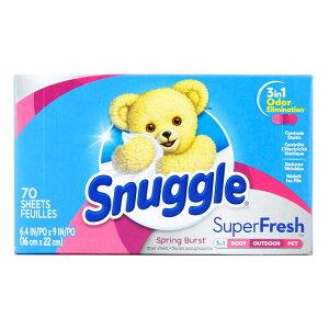Snuggle スナッグル シート柔軟剤 スーパーフレッシュ スプリングバースト 70枚 乾燥機用 柔軟シート