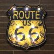 Route66LEDウォールサイン<オレンジ>/ライトアップサイン/レトロインテリア/ノスタルジックアメリカン/