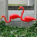 PINK FLAMINGOS 50年代アメリカンなピンクフラミンゴのオブジェ2体セット 50's ガーデニング エクステリア 装飾 アメリカ雑貨 アメリカ…