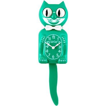壁掛け時計Kit-CatKlockキットキャットクロックグリーンビューティウォールクロックネコインテリアアメリカン雑貨