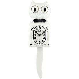 壁掛け 時計 Kit-Cat Klock キットキャットクロック (ホワイト ジェントルマン) ウォールクロック ネコ インテリア アメリカン雑貨