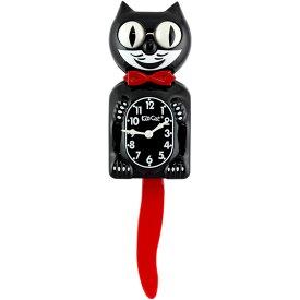 壁掛け 時計 Kit-Cat Klock キットキャットクロック (クリムゾンロイヤル) ウォールクロック ネコ インテリア アメリカン雑貨