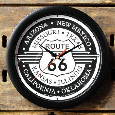 ルート66ラウンドウォールクロック/壁掛け時計/アメリカン雑貨/