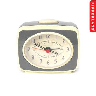 目覚まし時計かわいいキッカーランドクラシックアラームクロック(グレイ)KIKKERLAND置き時計アメリカ雑貨アメリカン雑貨