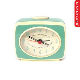目覚まし時計 かわいい キッカーランド クラシックアラームクロック(ミントグリーン) KIKKERLAND 置き時計 アメリカ雑貨 アメリカン雑貨