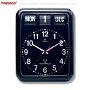 トゥエンコ ラジオコントロールカレンダークロック #RC-12A (ブラック ) TWEMCO 壁掛け時計 ウォールクロック 電波時計 アメリカ雑貨…