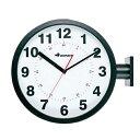 時計 壁掛け ダルトン ダブルフェイス ウォールクロック S82429 ブラック DULTON ステーションクロック インテリア アメリカ雑貨 アメ…