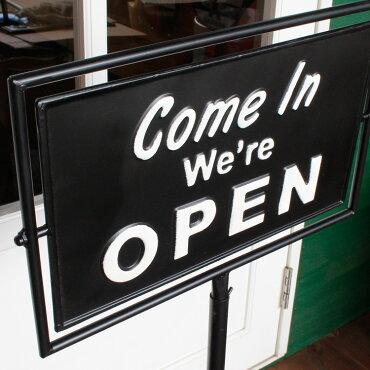 店舗用看板ダルトンスピナーサインスタンドOPEN-CLOSEDブラックG965-1245BKDULTONオープンクローズアメリカ雑貨アメリカン雑貨