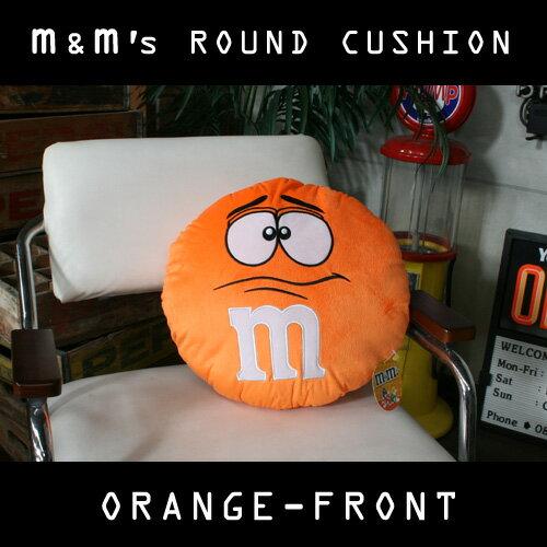 m&m's エムアンドエムズ ラウンドクッション (オレンジ ) ぬいぐるみ アメリカ雑貨 アメリカン雑貨