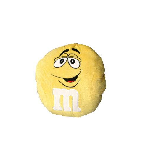 m&m's エムアンドエムズ ラウンドクッション (イエロー ) ぬいぐるみ アメリカ雑貨 アメリカン雑貨