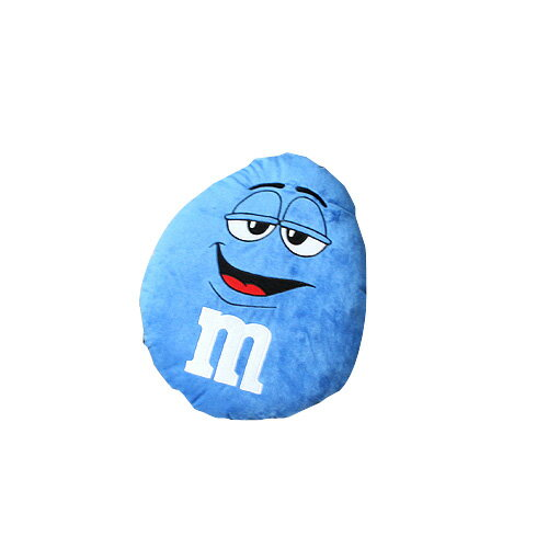 m&m's エムアンドエムズ ラウンドクッション (ブルー ) ぬいぐるみ アメリカ雑貨 アメリカン雑貨