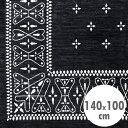 バンダナラグ 「Cross」 ブラック 140×100cm ラグマット カーペット 敷物 アメリカ雑貨 アメリカン雑貨