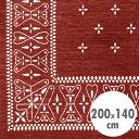 バンダナラグ 「Cross」 バーガンディ 200×140cm ラグマット カーペット 敷物 アメリカ雑貨 アメリカン雑貨