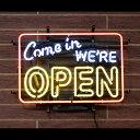 アメリカンネオンサイン 「COME IN WE'RE OPEN」 オープンサイン ネオン管 ガレージング アメリカンインテリア アメリカ雑貨 アメリカ…