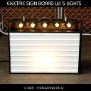 エレクトリックサインボード w ライト Sサイズ (ブラック )高さ53×幅70cm メニューボード 店舗看板 カフェインテリア アメリカ雑貨 …