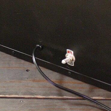 エレクトリックサインボードw/ライトLサイズ(ブラック)【メニューボード、店舗看板、カフェインテリア、アメリカン雑貨】