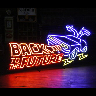 "Neon sign ""BACK TO THE FUTURE back to-the-future"" / Neon / American Interior"