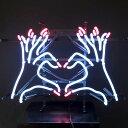 ネオンサイン / HEART HAND 手でハート型 インテリア ネオン管 アメリカン インテリア 電飾 店舗 アメリカ雑貨