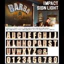 アメリカンサイン withライト「A〜Z 0〜9 & @」よりお選び下さい。インパクトフォント <文字単品販売> フォントライト インテリア …