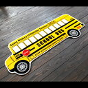 アメリカン フロアマット 「SCHOOL BUS」 縦48×横120cm インテリアマット ロングマット キッチンマット アメリカ雑貨 アメリカン雑貨