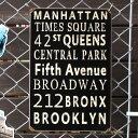 スティールサイン「New York Streets」 PTS-127 ニューヨーク メタルサイン 看板 アメリカ雑貨 アメリカン雑貨