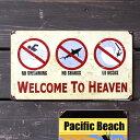 スティールサイン 「SURF HEAVEN」 V-114 /サーフ柄/メタルサイン・看板/アメリカン雑貨/