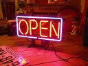 ネオンサイン OPEN (S ) ネオン管 照明 店舗装飾 インテリア ガレージング アメリカ雑貨 アメリカン雑貨