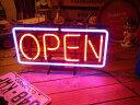 ネオンサイン OPEN (M ) ネオン管 照明 店舗装飾 インテリア ガレージング アメリカ雑貨 アメリカン雑貨