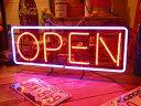 ネオンサイン OPEN (L ) ネオン管 照明 店舗装飾 インテリア ガレージング アメリカ雑貨 アメリカン雑貨